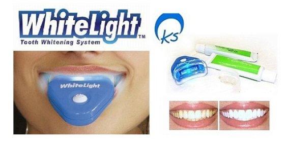 Системой отбеливания зубов white light в домашних условиях